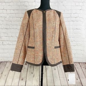 NWT Doncaster Mul Tweed Zip-Up Jacket Size 6